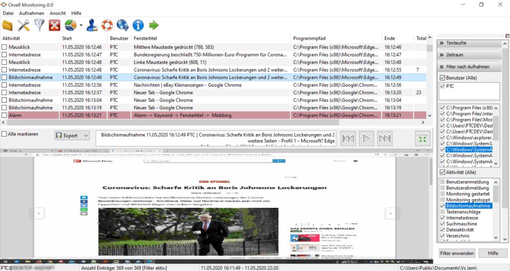 pc überwachungssoftware kostenlos